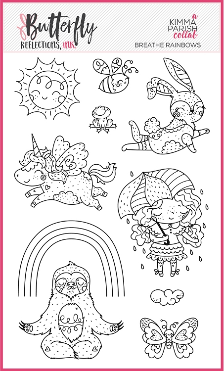 Breathe Rainbows Stamp Set