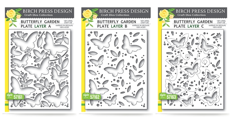 Butterfly Garden Plate Layer Dies