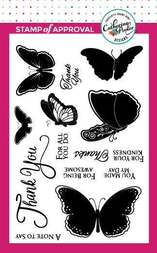 Butterfly Notes Stamp Set