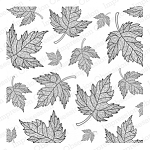 Cover-a-Card Maple Leaves Stamp