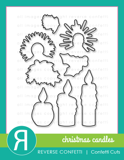 Christmas Candles Confetti Cuts