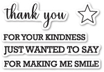 Thank You Sentiments Stamp Set