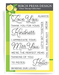 Love and Miss You Stamp Set