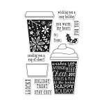 Coffee Cup Tags Stamp Set