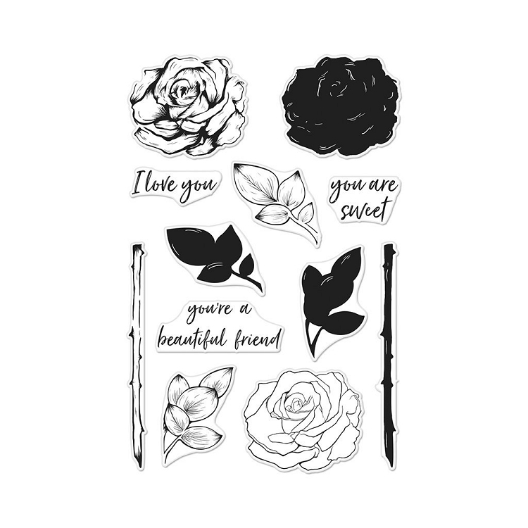 Color Layering Rose Stamp Set
