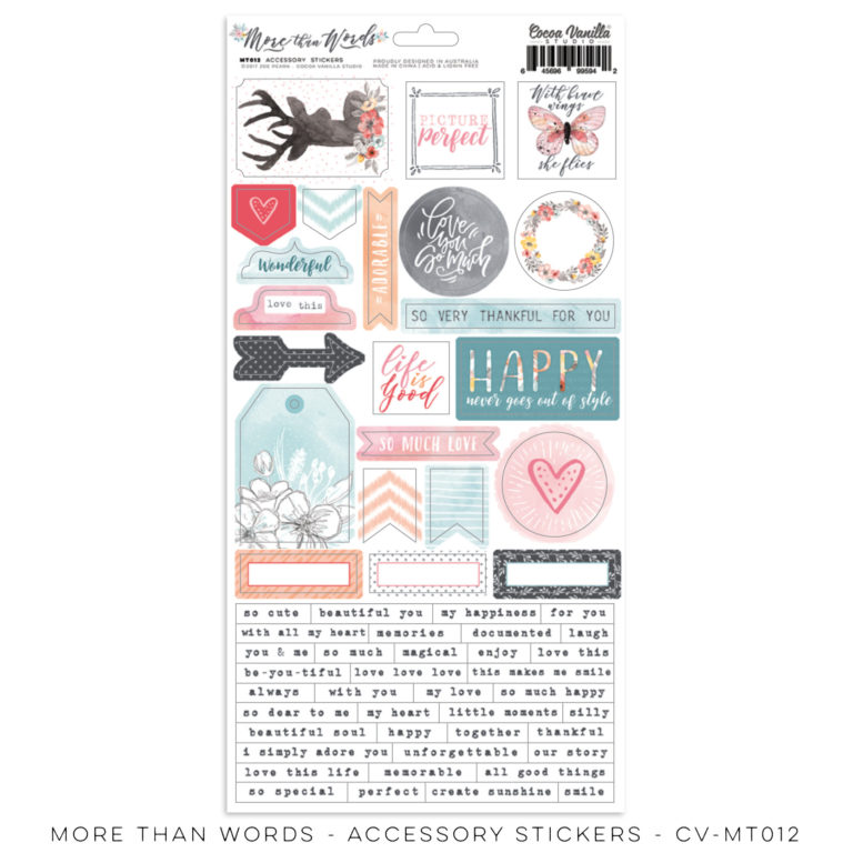 More Than Words Stickers