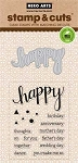 Happy Stamp & Cut