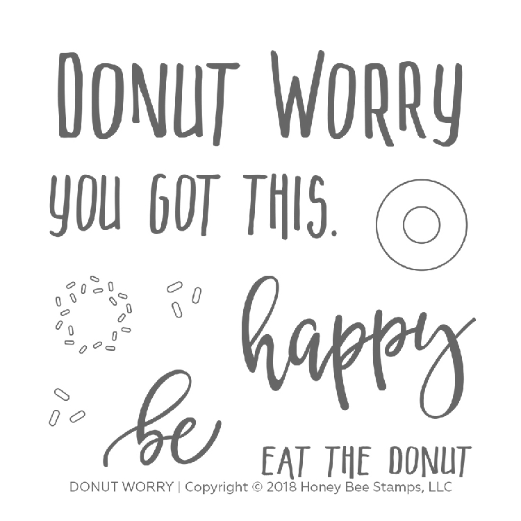 Donut Worry Stamp Set