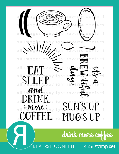 Drink More Coffee Stamp Set