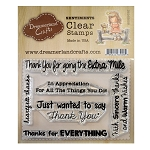 Thank You Sentiments 2 Stamp Set