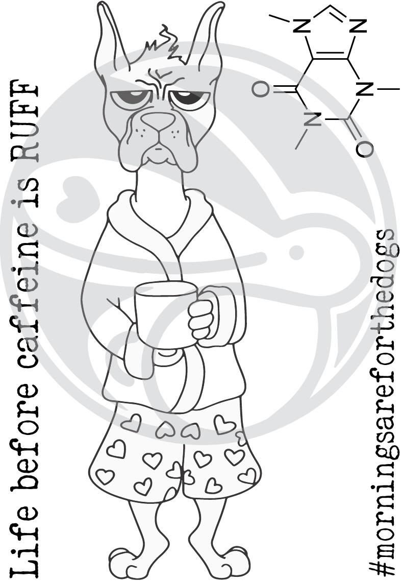 Caffeinated Boxer Stamp Set