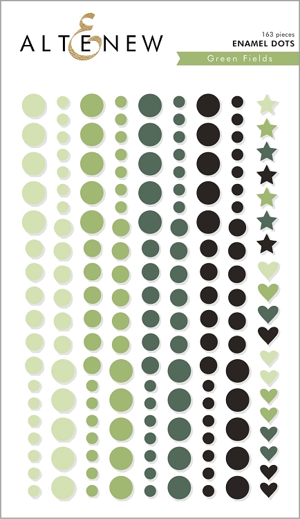 Green Fields Enamel Dots