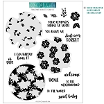 Floral Print Silhouette Stamp Set