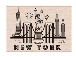 Destination New York Stamp