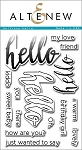 Halftone Hello Stamp Set