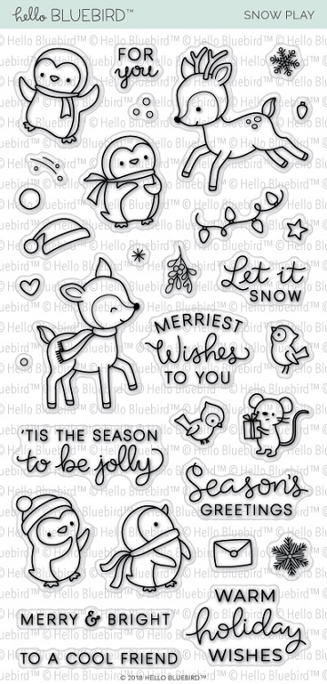 Snow Play Stamp Set