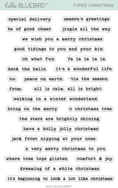 Typed Christmas Stamp Set