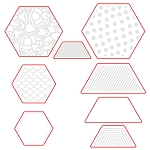 Hexagon Patterns Dies