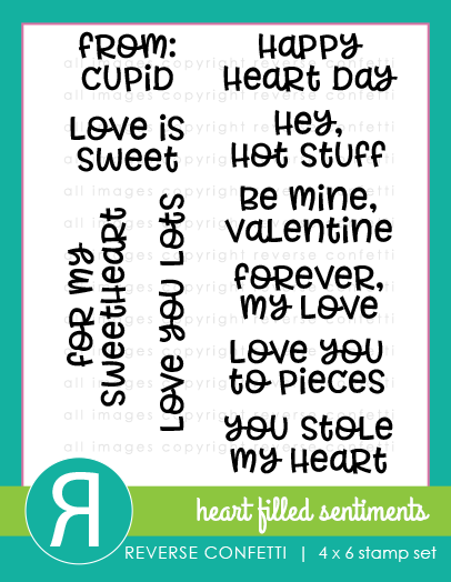 Heart Filled Sentiments Stamp Set