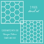 Hexagon Patterns Stencil Set