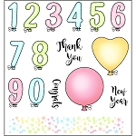 Balloon Numbers Stamp Set