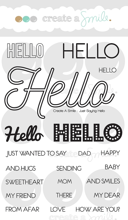 Just Saying Hello Stamp Set