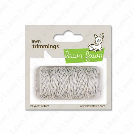 Lawn Trimmings Twine - Silver Sparkle