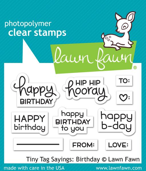 Tiny Tags Sayings: Birthday Stamp Set