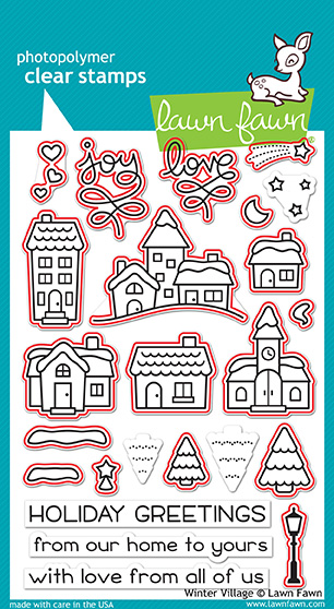 Winter Village Stamp Set