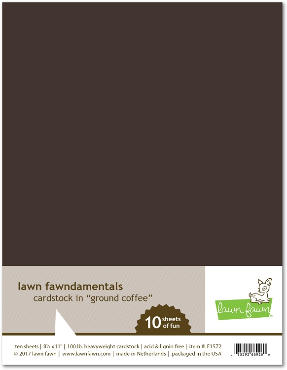 8.5 x 11 Cardstock Ground Coffee
