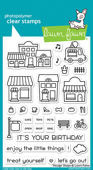 Village Shops Stamp Set