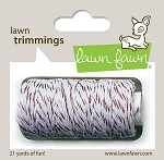 Lawn Trimmings Twine - Red Sparkle