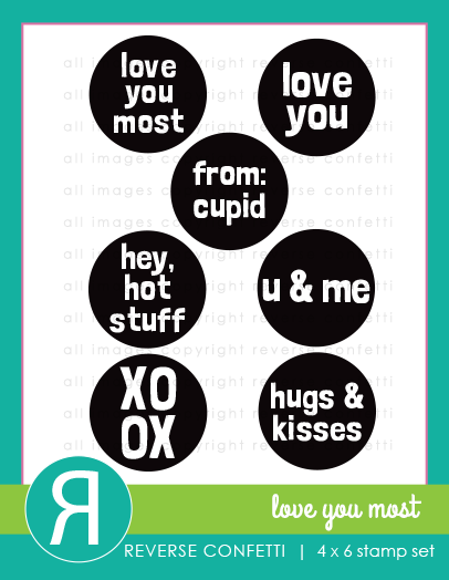 Love You Most Stamp Set