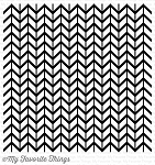 Lined Chevron Background Stamp