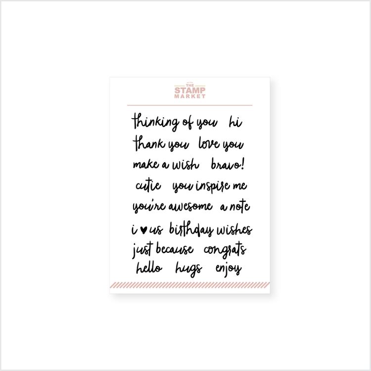 Mini Messages Stamp Set