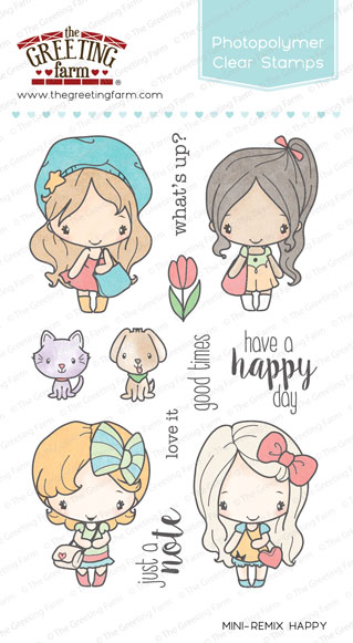 Mini Remix Happy Stamp Set