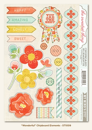 Tangerine Wonderful Stickers Shapes