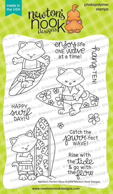 Newton's Perfect Wave Stamp Set