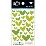 Olive You Enamel Hearts