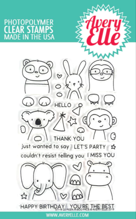 Peek-A-Boo Pals Stamp Set
