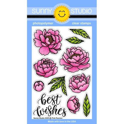 Pink Peonies Stamp Set