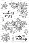 Poinsettia Blooms Stamp Set