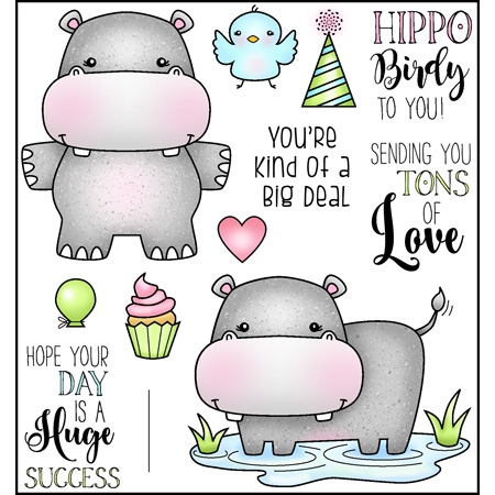Hippo Birdie to You Stamp Set