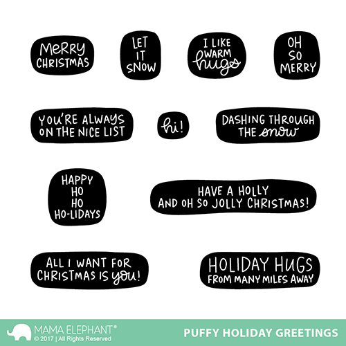Puffy Holiday Greetings Stamp Set
