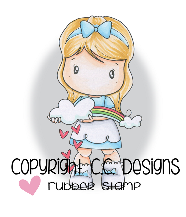 Swiss Pixie Rainbow Lucy Rubber Stamp