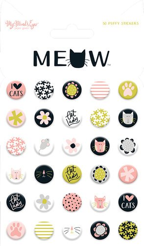 Meow Puffy Stickers