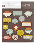 Darling Dear Cardstock Stickers Speech Bubbles