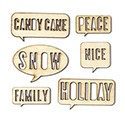 Magical Wood Veneers Speech Bubbles