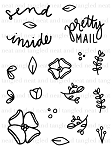 Send Pretty Mail Stamp set