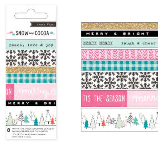 Snow and Cocoa Washi Tapes